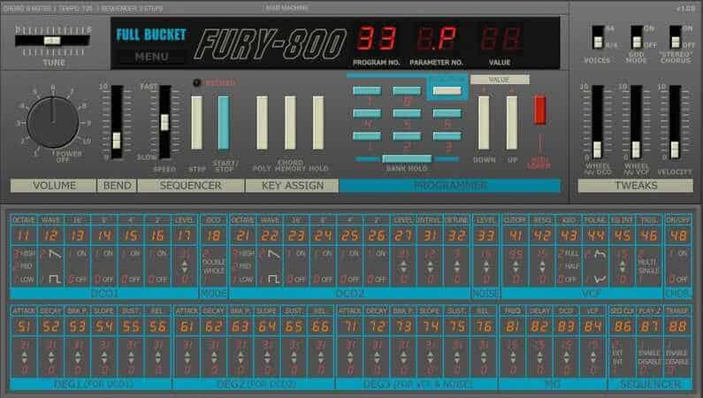 Full Bucket Music Fury 800