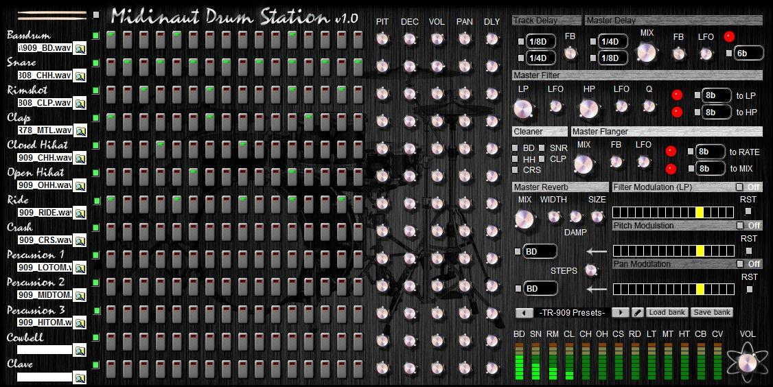 Midinaut Drum Station 3
