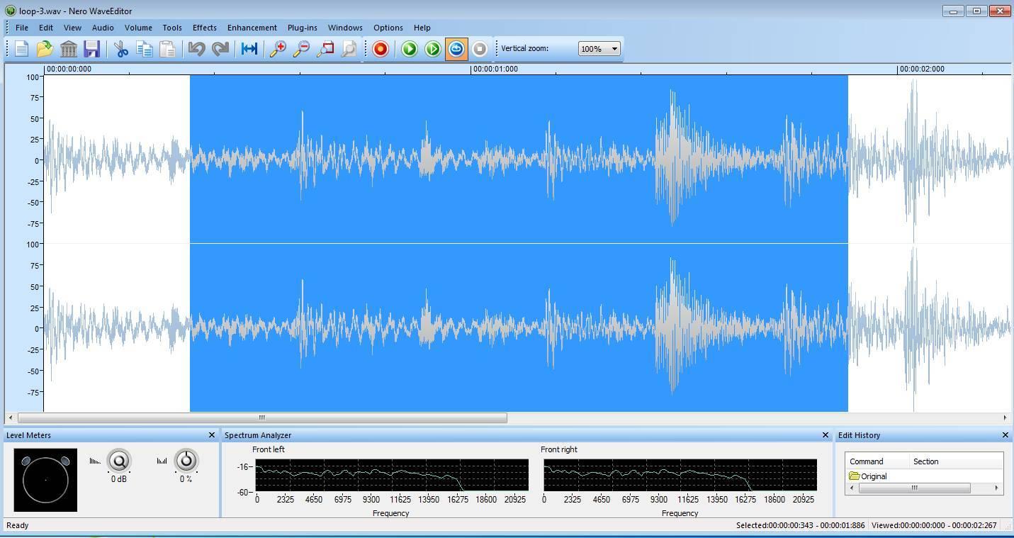 Nero Wave Editor free