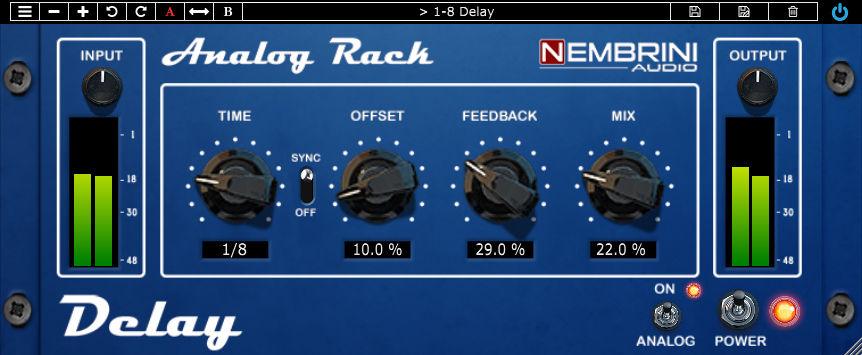 Nembrini Audio - Analog Rack Delay